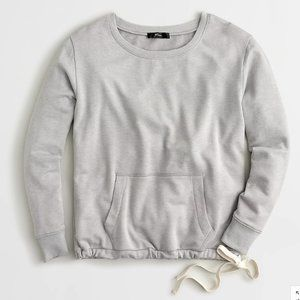 J Crew Crewneck pocket sweatshirt Side tie bow S